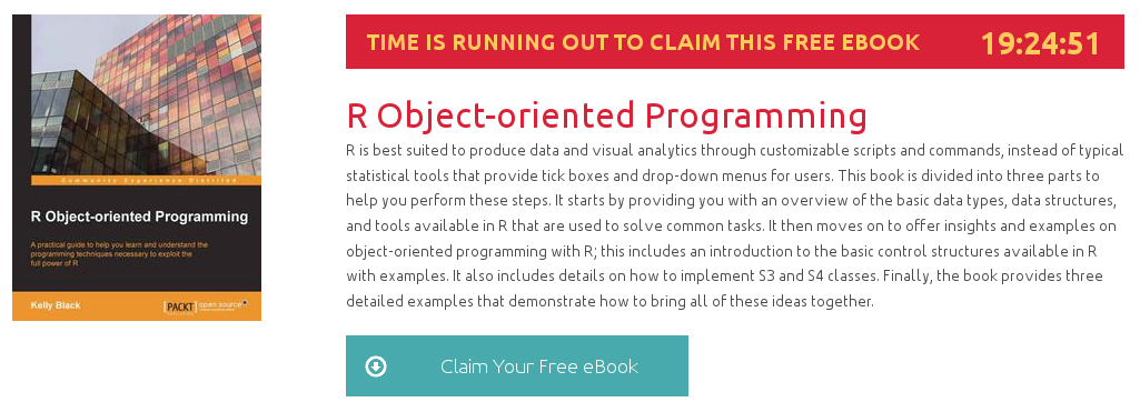 R Object-oriented Programming, ebook gratuito disponible durante las próximas 19 horas
