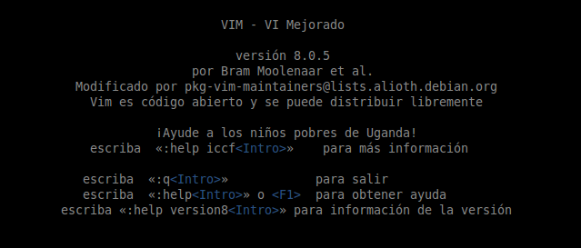 Vim 8.0 en Ubuntu 14.04 LTS de 64 bits