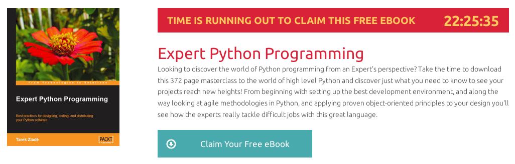 Expert Python Programming , ebook gratuito disponible durante las próximas 22 horas