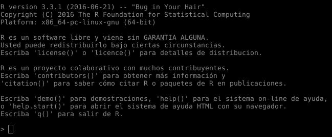 Lenguaje R en Ubuntu 16.04 LTS