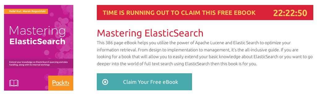 Mastering ElasticSearch, ebook gratuito disponible durante las próximas 22 horas