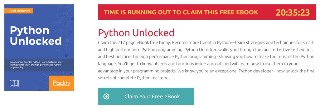 Python Unlocked, ebook gratuito disponible durante las próximas 20 horas