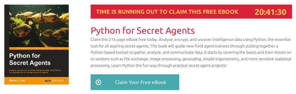 Python for Secret Agents, ebook gratuito disponible durante las próximas 20 horas