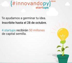 Se viene #InnovandoPY - con 4 capitales semilla de 50 millones de guaraníes (imagen destacada)