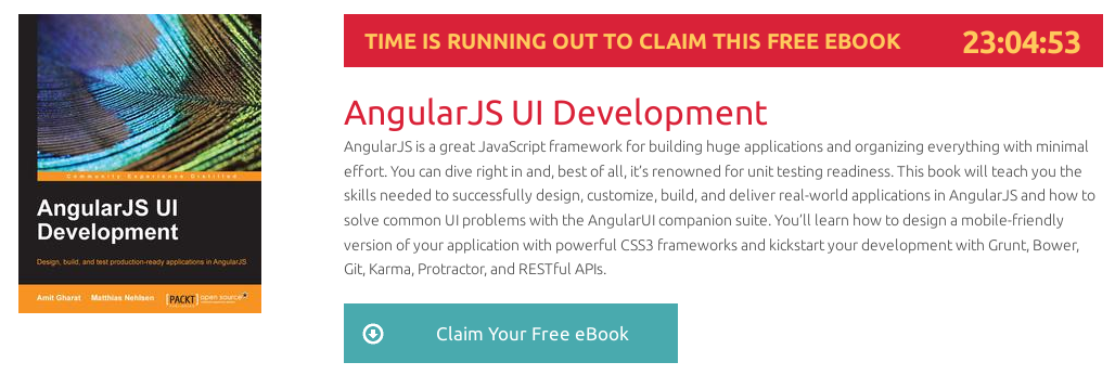 AngularJS UI Development, ebook gratuito disponible durante las próximas 23 horas