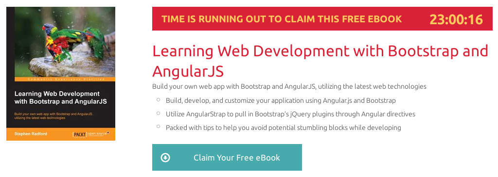 Learning Web Development with Bootstrap and AngularJS, ebook gratuito disponible durante las próximas 22 horas