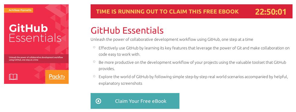 GitHub Essentials, ebook gratuito disponible durante las próximas 22 horas