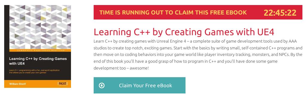 Learning C++ by Creating Games with UE4, ebook gratuito disponible durante las próximas 22 horas