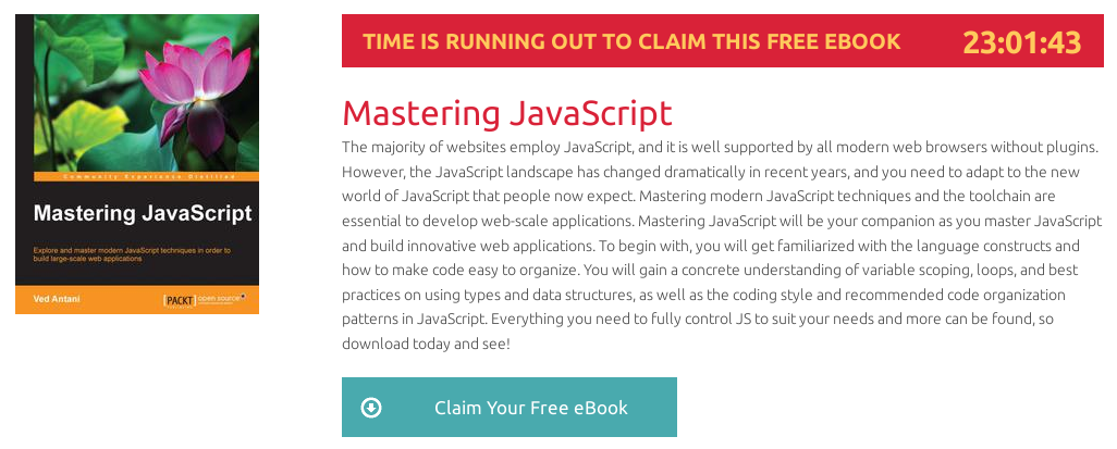 Mastering JavaScript, ebook gratuito disponible durante las próximas 22 horas