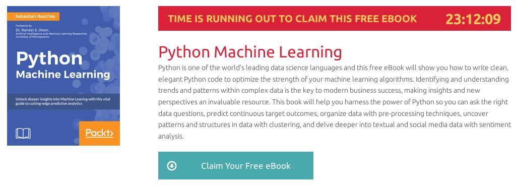 Python Machine Learning, ebook gratuito disponible durante las próximas 23 horas