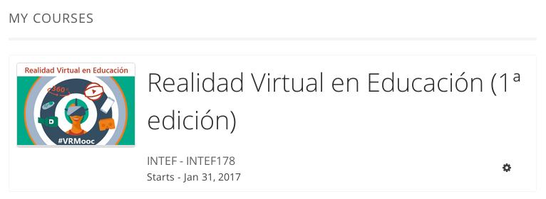 Curso gratuito sobre Realidad Virtual en educación