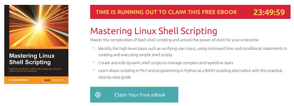 Mastering Linux Shell Scripting, ebook gratuito disponible durante las próximas 23 horas