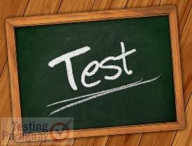 Pizarra con palabra Test