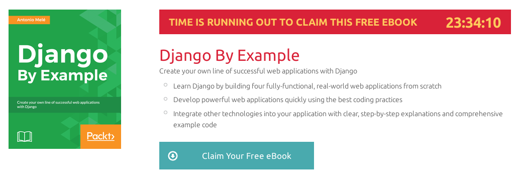 Django By Example, ebook gratuito disponible durante las próximas 23 horas