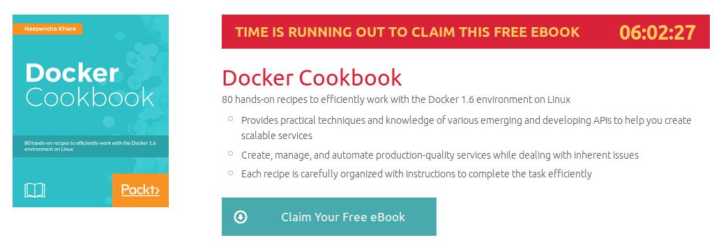 Docker Cookbook, ebook gratuito disponible durante las próximas 6 horas