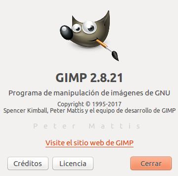 Gimp 2.8.21 en Ubuntu Xenial 16.04 LTS