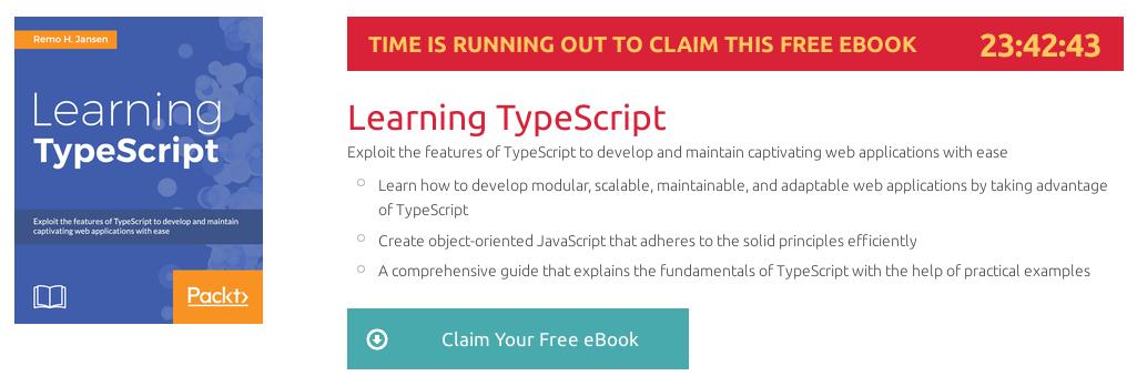 Learning TypeScript, ebook gratuito disponible durante las próximas 23 horas