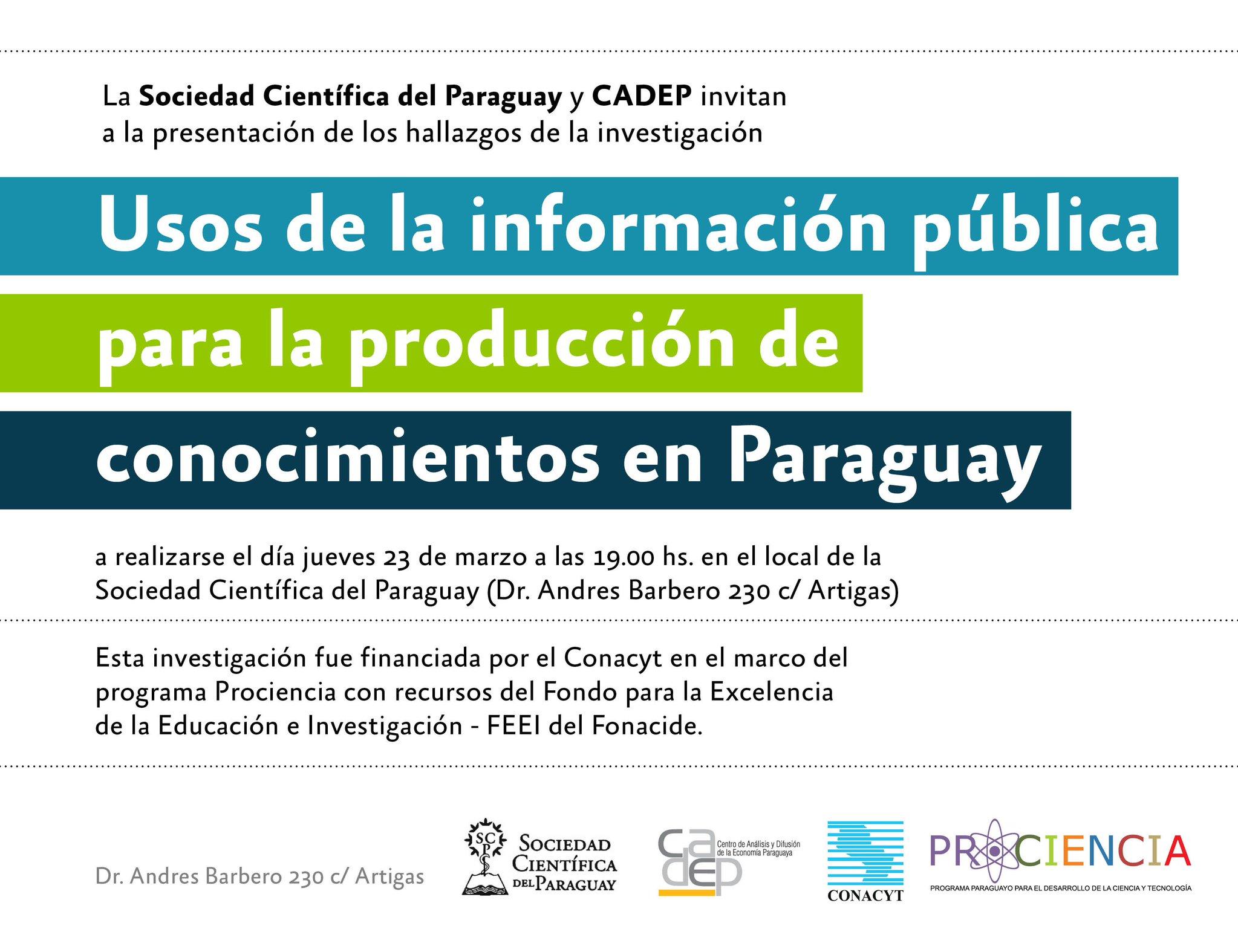 Presentación de los hallazgos de la investigación usos de información pública - Paraguay