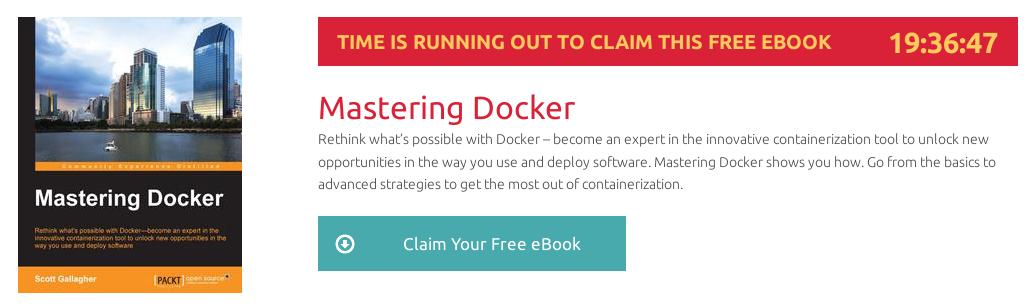 Mastering Docker, ebook gratuito disponible durante las próximas 19 horas