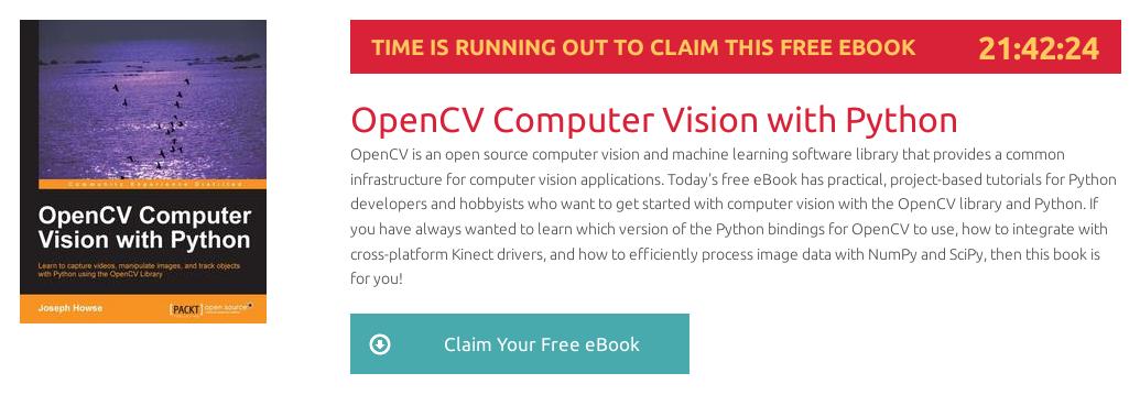 OpenCV Computer Vision with Python, ebook gratuito disponible durante las próximas 21 horas