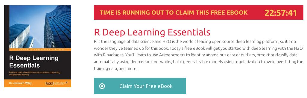 R Deep Learning Essentials, ebook gratuito disponible durante las próximas 22 horas