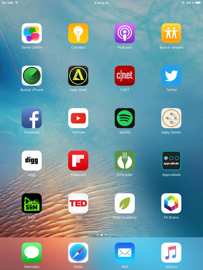 Screenshot iPad Mini 2