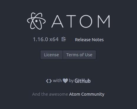 Atom en Ubuntu Zesty Zapus