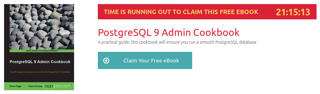 PostgreSQL 9 Admin Cookbook, ebook gratuito disponible durante las próximas 21 horas