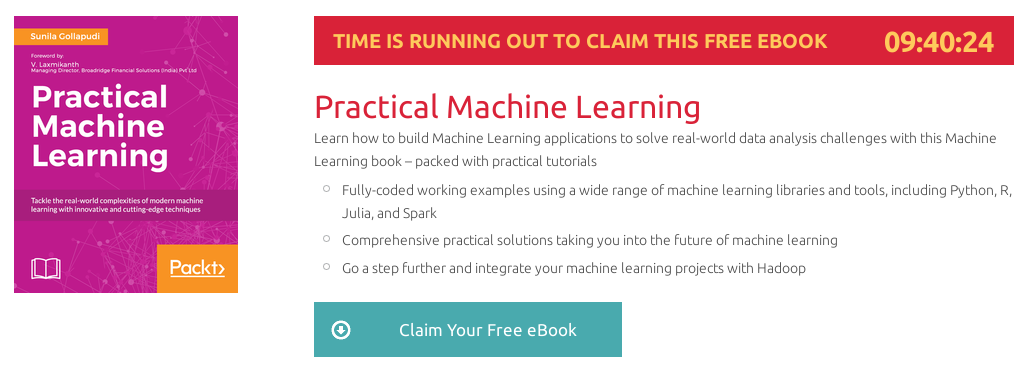 Practical Machine Learning, ebook gratuito disponible durante las próximas 9 horas