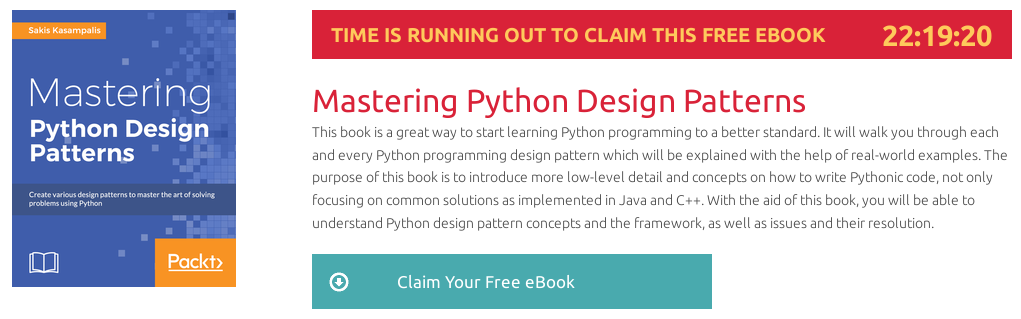 Mastering Python Design Patterns, ebook gratuito disponible durante las próximas 22 horas