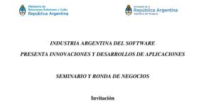 Seminario y Ronda de Negocios del Sector Software (imagen destacada)