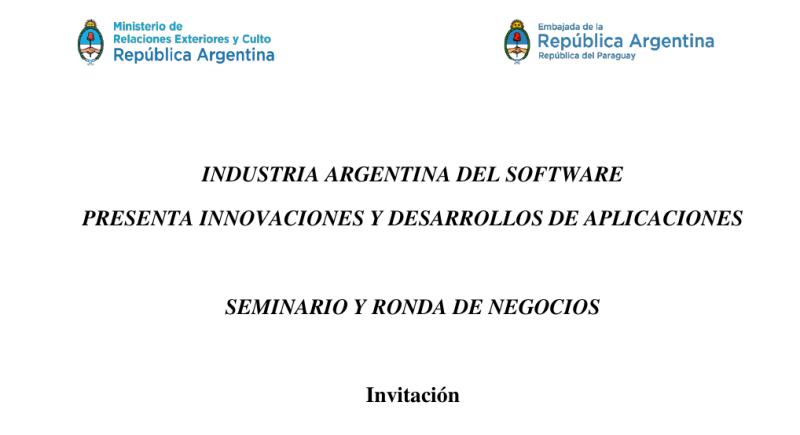 Seminario y Ronda de Negocios del Sector Software