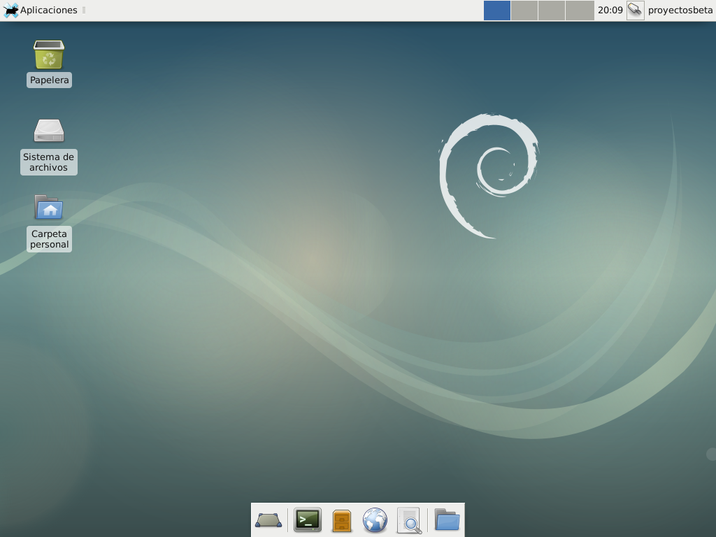 XFCE en Debian Stretch