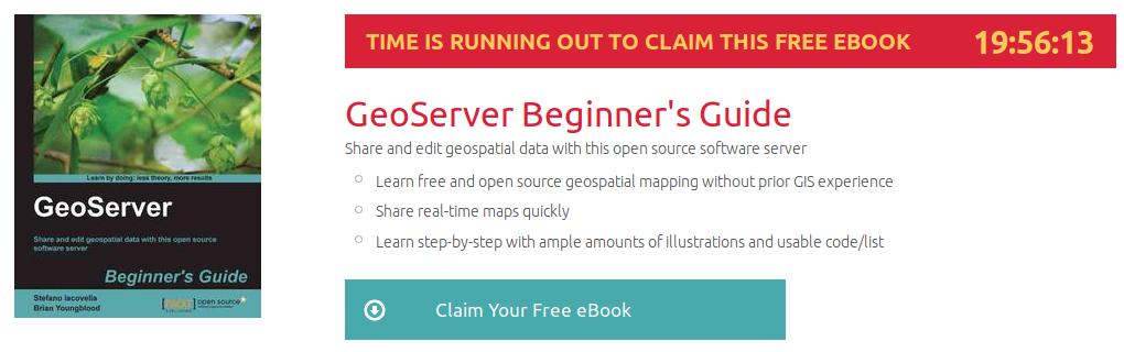 GeoServer Beginner's Guide, ebook gratuito disponible durante las próximas 19 horas