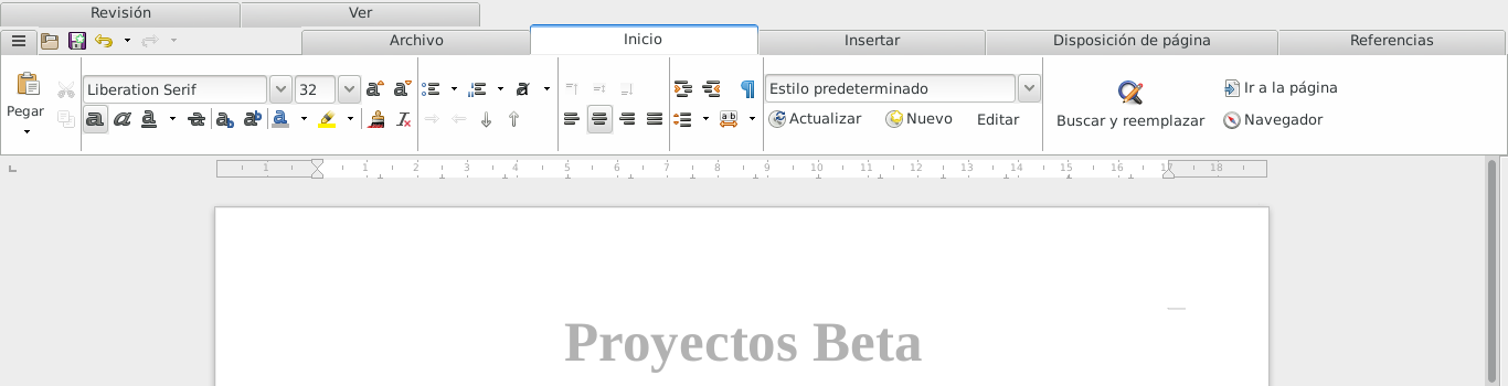 LibreOffice 5.4.0 en Debian Jessie