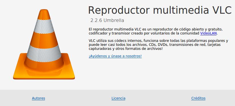 Vlc 2.2.6 en Ubuntu Xenial Xerus 16.04 LTS