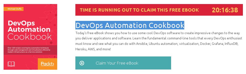 DevOps Automation Cookbook, ebook gratuito disponible durante las próximas 20 horas