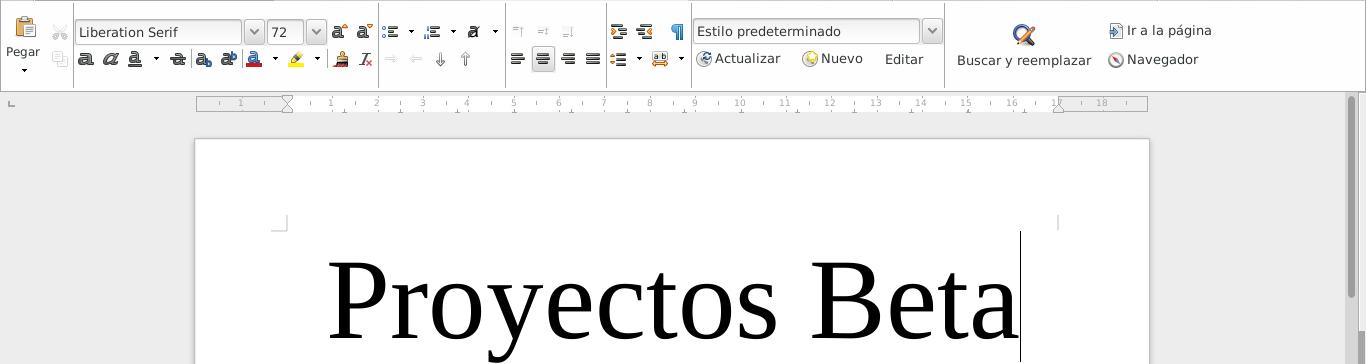 LibreOffice 5.4.1 en Debian Jessie