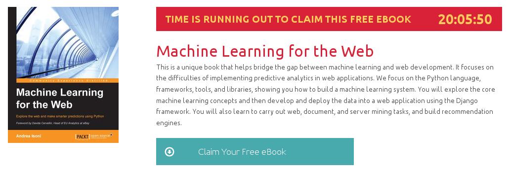 Machine Learning for the Web, ebook gratuito disponible durante las próximas 20 horas
