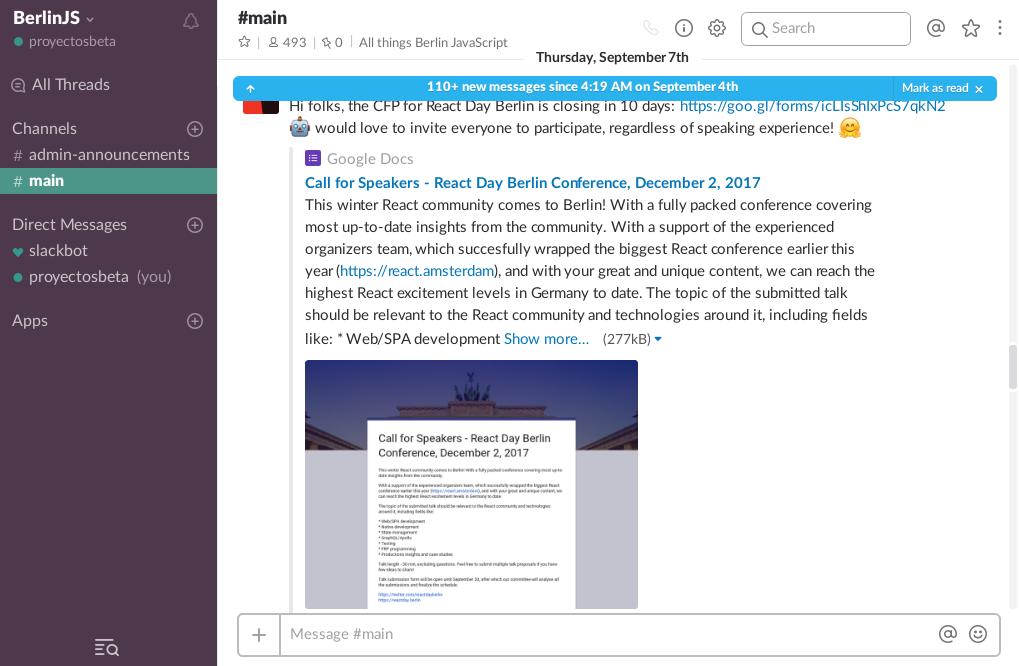 Slack en Debian Stretch