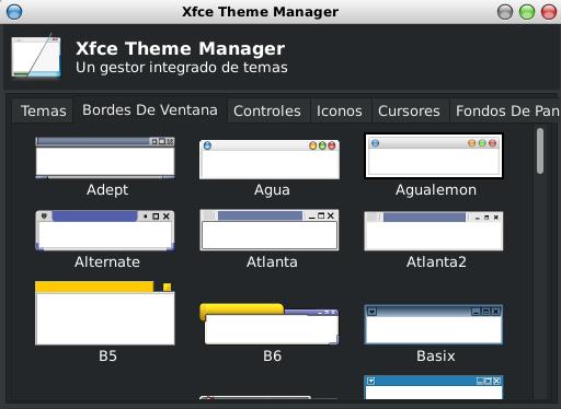XFCE Theme Manager en Debian Stretch