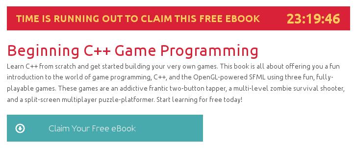 Beginning C++ Game Programming, ebook gratuito disponible durante las próximas 23 horas