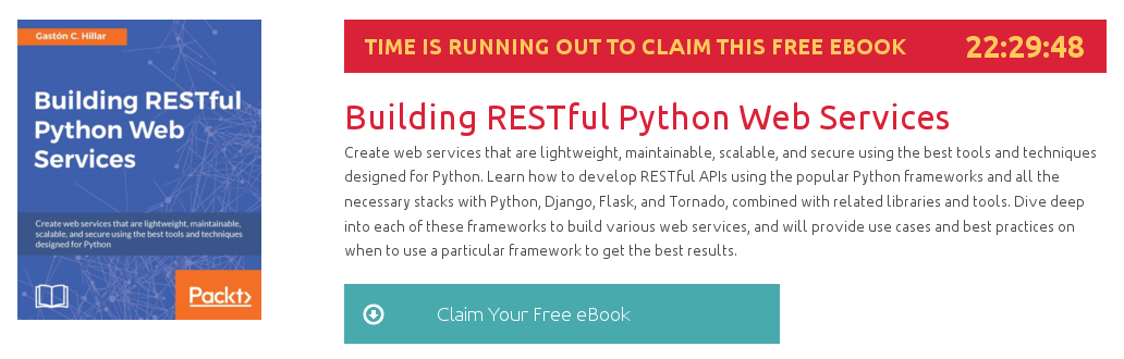 Building RESTful Python Web Services, ebook gratuito disponible durante las próximas 22 horas