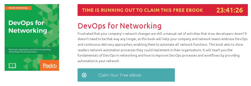 DevOps for Networking, ebook gratuito disponible durante las próximas 23 horas