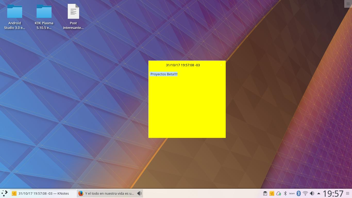 KDE Plasma 5.11.2 en Ubuntu 17.10 Artful Aardvark