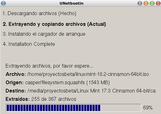 Unetbootin en Debian Stretch