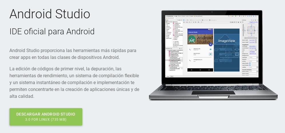 Descargar Android Studio 3.0 para Debian Stretch