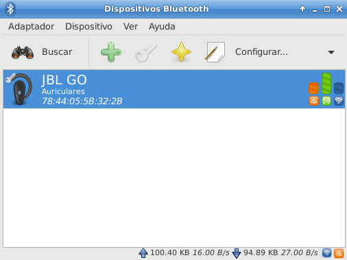 Dispositivos bluetooth en Debian Stretch