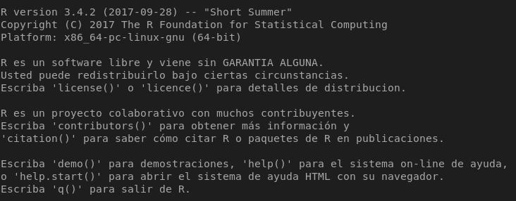 Lenguaje R en Ubuntu 17.10 Artful Aardvark