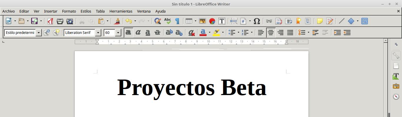 LibreOffice 5.4.3 en Linux Mint 18.2 Sonya de 64 bits